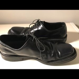 PRADA Mens Black leather Derby Oxford shoes SZ 8.5